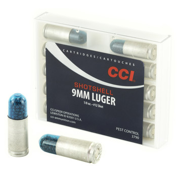 CCI/Speer Shotshell, 9MM, 53 Grain, Shotshell, #12 Shot Size, 10 Round Box 3790, UPC : 076683037909