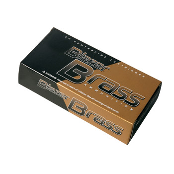 CCI/Speer Blazer Brass, 38 Special, 125 Grain, Full Metal Jacket, 50 Round Box 5204, UPC : 076683052049