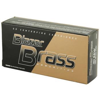 CCI/Speer Blazer Brass, 40 S&W, 180 Grain, Full Metal Jacket, 50 Round Box 5220, UPC : 076683052209