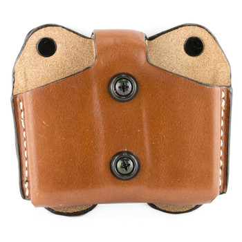 Desantis Double Magazine Pouch, Single Stack 45 Caliber, Ambidextrous, Tan Leather A01TJLLZ0, UPC :792695236399