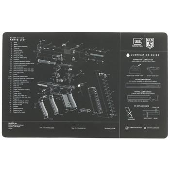Glock OEM Bench Mat, Gen 5, Black AS10032, UPC :764503027499