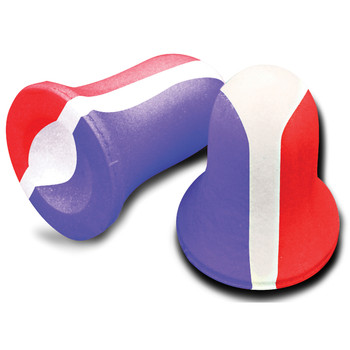 Howard Leight Super Leight Ear Plugs, Foam, NRR 33, Uncorded, Red/White/Blue, 10 Pair R-01891, UPC : 033552018919