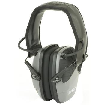 Howard Leight Impact Sport Bolt, Earmuff, Gray, Electronic, Folding R-02232, UPC : 033552022329