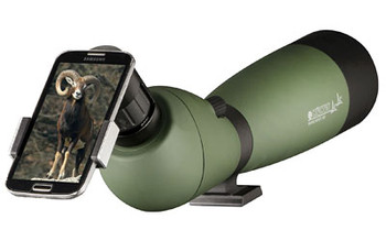 Konus KonuSpot, Spotting Scope. 20-60X100mm, Includes Smart Phone Adapter, Green Finish 7122B, UPC :698156071229