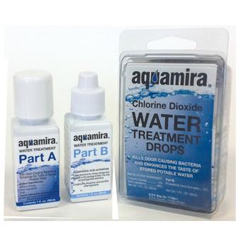 Aquamira Water Treatment Drops, 1 oz Bottles, Treats Up to 30 Gallons of Water 67202, UPC :877267002029