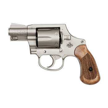"Armscor 206 Double Action, 38 Special, 2"", Alloy, Matte Nickel Finish, Wood Grips, Right Hand, Fixed Sights, 6 Rounds 51289, UPC :4806015512899"