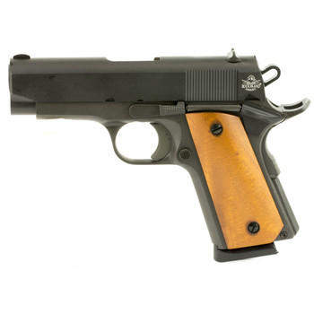 "Armscor Rock Island 1911, Compact, 45ACP, 3.5"" Barrel, Alloy Frame, Parkerized Finish, Wood Grips, FixedSights, 1 Magazine, 7 Rounds 51416, UPC :4806015514169"
