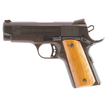 "Armscor Rock Island 1911, Compact Pistol, 45ACP, 3.5"" Barrel, Steel Frame, Blue Finish, Black Grips, Novak Sights, 1 Magazine, 7 Rounds 51429, UPC :4806015514299"
