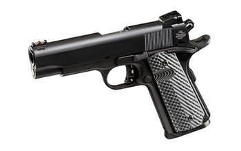 "Armscor Rock Island 1911, 45 ACP, 4.2"" Barrel, Steel Frame, Parkerized Finish, VZ Tactical Grips, Adjustable Sights, Ambidextrous, 8Rd, 1 Magazine, Fired Case 51487, UPC :4806015514879"