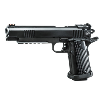 "Armscor Rock Island, Ultra Match, Semi-automatic, 1911, Full, 10MM, 6"" Barrel, Steel, Parkerized Finish, G10 Grips, Adjustable LPA Rear Sight with Fiber Optic Front, 1 16 Round Magazine 52000, UPC :4806015520009"