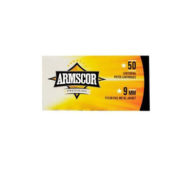 Armscor 9MM, 115 Grain, Full Metal Jacket, 50 Round Box FAC9-2N, UPC :812285022529