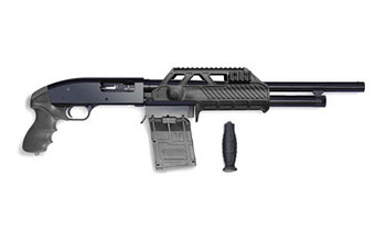 "Adaptive Tactical Sidewinder Venom Equipped Maverick 88, Pump Action Shotgun, 12 Gauge, 18.5"" Barrel, Black Finish, Pistol Grip, 5Rd Box Magazine, Pre-configured System AT-00101, UPC :682146910049"
