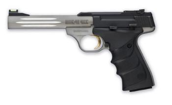 "Browning Buck Mark, Lite, Semi-Automatic, 22LR, 5.5"" Fluted Barrel, Aluminum Frame, Gray Finish, URX Grip, 10Rd, Fiber Optic Front Sight 051500490, UPC : 023614043409"
