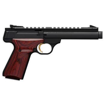 "Browning Buck Mark, Field Target, Supressor Ready, Semi-automatic, 22LR, 5.5"" THreaded Bull Barrel, Aluminum Frame, Black Finish, Cocobolo Grips, 10Rd 051527490, UPC : 023614441649"