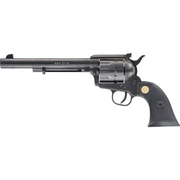 "Chiappa Firearms SAA 22-10, 22LR/22WMR, 7.5"" Barrel, Alloy Frame, Black Finish, Plastic Grips, Adjustable Rear Sight, 10Rd CF340-170D, UPC :8053670711099"