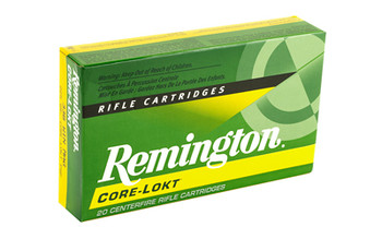 Remington Core Lokt, 338 WIN MAG, 225 Grain, Pointed Soft Point, 20 Round Box 22189, UPC : 047700066509