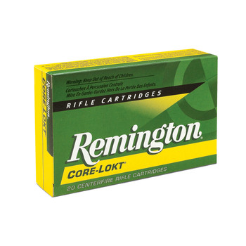 Remington Core Lokt, 7MM REM, 150 Grain, Pointed Soft Point, 20 Round Box 29487, UPC : 047700053509