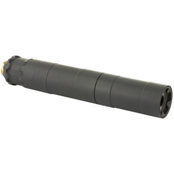 Rugged Suppressors Obsidian 9 with ADAPT Modular Technology, Pistol Suppressor, 9MM, Includes 1/2X28 Piston, Aluminium Tube, 17-4 PH Baffles, Black Cerakote Finish OBS0009, UPC :859383006549
