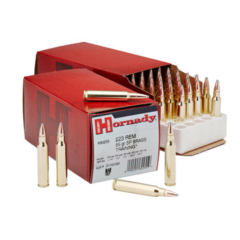 Hornady Hunting, 223REM, 55 Grain, Full Metal Jacket, 50 Round Box 80255, UPC : 090255802559