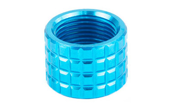 Backup Tactical Frag, Pistol Thread Protector, Blue Finish, 1/2 x 28 RH FRAG-BLU, UPC :686696695449