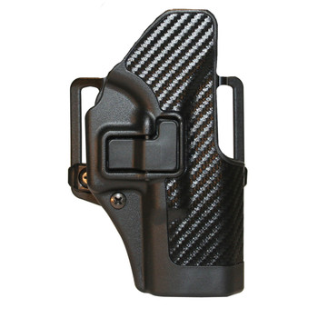 BLACKHAWK! CQC SERPA Holster With Belt and Paddle Attachment, Fits Glock 19/23/32/36, Right Hand, Carbon Fiber, Black 410002BK-R, UPC :648018003929