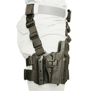 BLACKHAWK! Level 2 Tactical SERPA Holster, Fits Glock 17/19/22/23/31/32, Right Hand, Black 430500BK-R, UPC :648018008429
