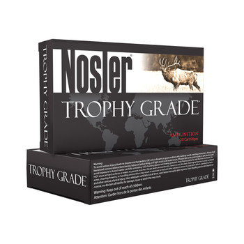 Nosler Trophy Ammunition, 33 225 Grain, AccuBond, 20 Round Box 60098, UPC : 054041600989