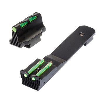 Hi-Viz Litewave, Front & Rear Sight Set, Fits Henry Big Boy Rifles, Front Includes Green Red White Litepipes, Rear Includes Two Green Non-Replaceable Litepipes HHVS41, UPC :613485589399
