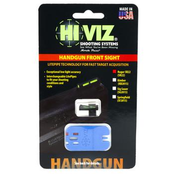 Hi-Viz Litewave Sight, Fits Ruger SR22, Front Sight, Include Litepipes and Key SR22, UPC :613485588989