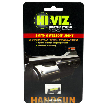 Hi-Viz Front Sight, Fits S&W Revolvers with Interchangeable Front Sights, Green SW1002-G, UPC :613485584929
