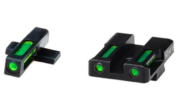 Hi-Viz LiteWave H3 Tritium/Litepipe Night Sights, Fits Springflied XD,XDS,XDE and XD-M, Green Front and Rear XDN321, UPC :613485589689