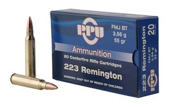 Prvi Partizan Rifle, 223 Rem, 55 Grain, Soft Point, 20 Round Box PP223S, UPC :8605003812319