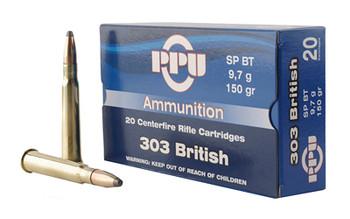 Prvi Partizan Rifle, 303 British, 150 Grain, Soft Point, 20 Round Box PP303S1, UPC :8605003812579