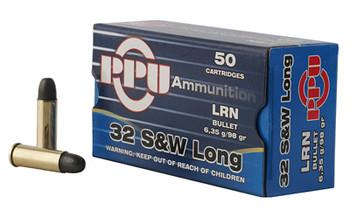Prvi Partizan Pistol, 32 S&W Long, 98 Grain, Lead Round Nose, 50 Round Box PPH32SW, UPC :8605003813019