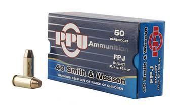 Prvi Partizan Pistol, 40 S&W, 165 Grain, Flat Point Jacket, 50 Round Box PPH40F, UPC :8605003813149