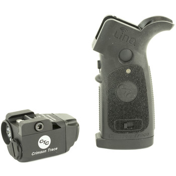 Crimson Trace Corporation LiNQ Wireless Laser and White Light for AR Rifles, Fits 1913 Picatinny Rail, Black FInish, 300 Lumen LED, Replacement Grip is Ergonomically Designed for Complete Control of Operation of Laser and Light Module, Green Laser, 4