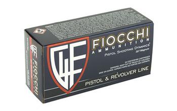 Fiocchi Ammunition Centerfire Pistol, 357MAG, 158 Grain, Copper Metal Jacket, 50 Round Box 357GCMJ, UPC :762344710969