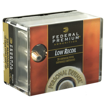 Federal Personal Defense, Hydra-Shok, 357MAG, 130 Grain, Jacketed Hollow Point, Low Recoil, 20 Round Box PD357HS2H, UPC : 029465094669