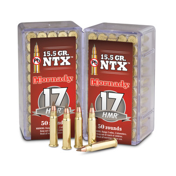 Hornady Hunting,17HMR, 15.5 Grain, NTX, Lead Free, 50 Round Box 83171, UPC : 090255831719