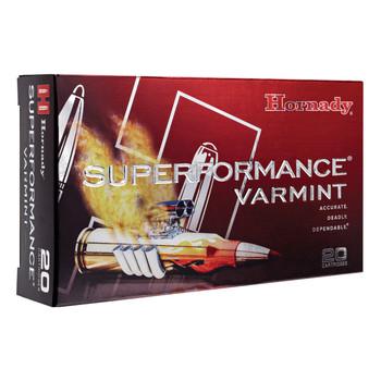 Hornady Superformance Varmint, 204 Ruger, 24 Grain, NTX, Lead Free, 20 Round Box 83209, UPC : 090255832099