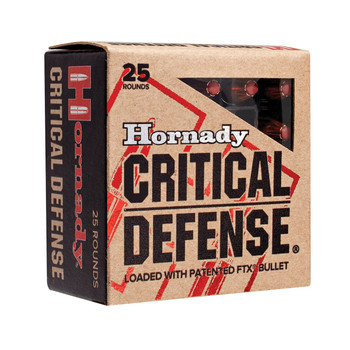 Hornady Critical Defense, 38 Special, 110 Grain, Hollow Point, 25 Round Box 90311, UPC : 090255903119
