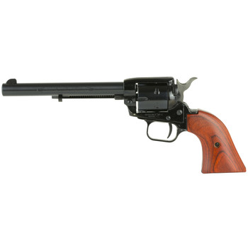 "Heritage Rough Rider, Single Action Army, 22LR, 6.5"" Barrel, Alloy Frame, Blue Finish, Wood Grips, Fixed Sights, 6Rd, Right Hand, Long Rifle Cylinder Only RR22B6, UPC :727962500309"