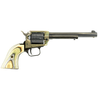 "Heritage Rough Rider, Single Action Revolver, 22LR, 6.5"" Barrel, Alloy Frame, Case Hardened Finish, Cocobolo  Grips, 6Rd RR22CH6, UPC :727962503829"