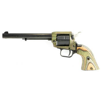 "Heritage Rough Rider, Single Action Revolver, 22LR, 6.5"" Barrel, Alloy Frame, Case Hardened Finish, Cocobolo  Grips, 6Rd RR22CH6, UPC :727962503829"