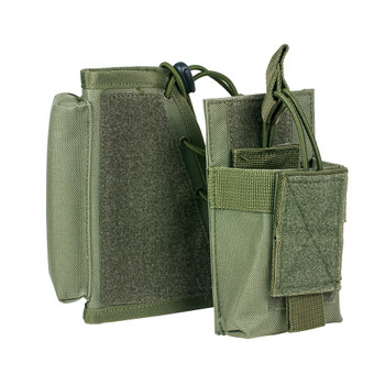 NCSTAR Stock Riser with Mag Pouch, Green, Fits Most Rifles, Ambidextrous Mag Pouch, Holds All AR and AK Mags CVSRMP2925G, UPC :814108016449