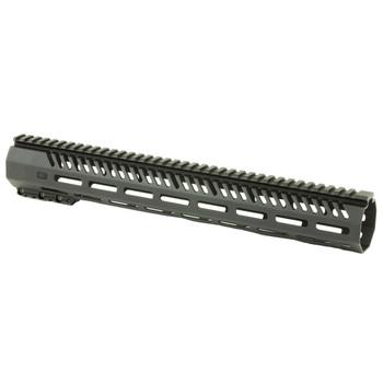 Mission First Tactical Tekko, MLOK Rail System, Fits AR Rifles, Free Float, Metal, Black Finish TMARFF15MRS, UPC :814002020849