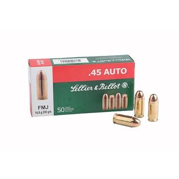 Sellier & Bellot Pistol, 40S&W, 180 Grain, Full Metal Jacket, 50 Round Box SB40B, UPC :754908500239