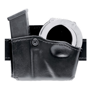 Safariland Model 573 Open Top Case, Fits Glock 17/22/19/23 Magazine and Handcuff, Black 573-83-21, UPC :781602098069