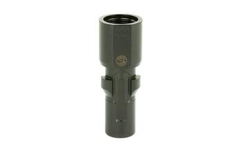 SilencerCo 3-Lug Muzzle Device, 9MM, 5/8X24, Black Finish AC2609, UPC :816413025239