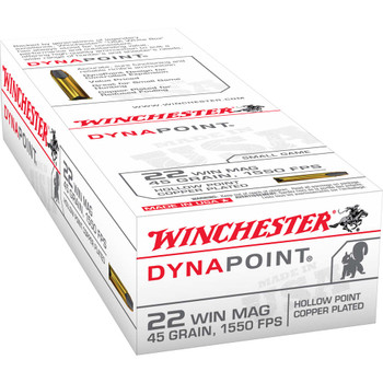 Winchester Ammunition USA, 22WMR, 45 Grain, Dynapoint, 50 Round Box USA22M, UPC : 020892101579